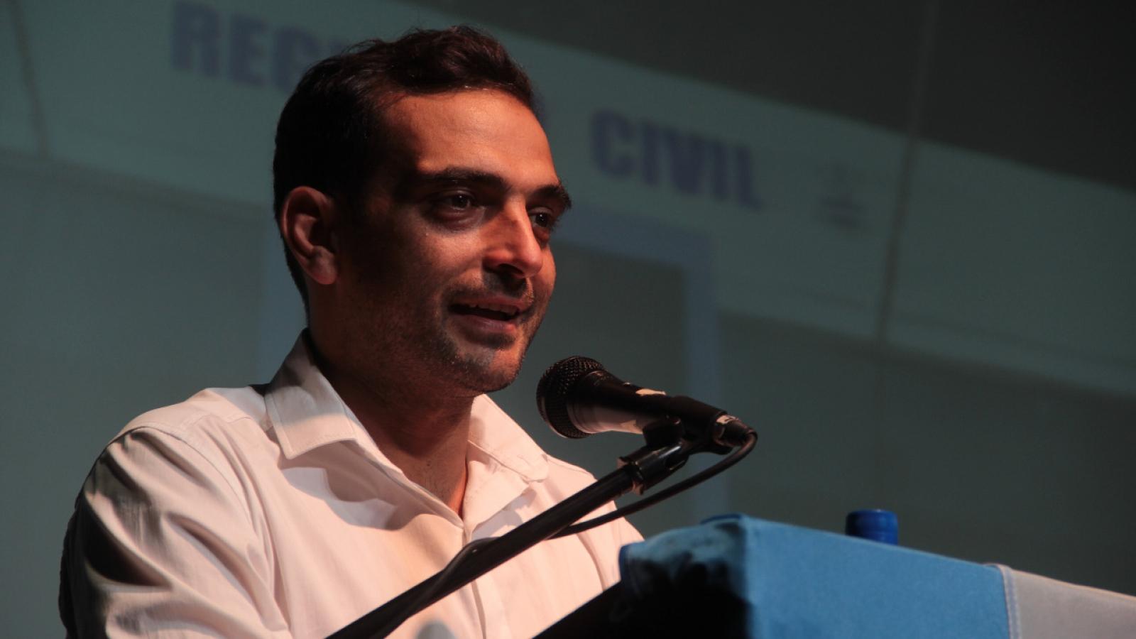 Dario Cesta Intendente Río Segundo 2021 brindando discurso en la apertura de sesiones legislativas